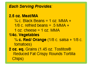 7 layer dip with TOSTITOS® Whole Grain Rich Crispy Round Tortilla Chips.png