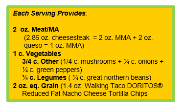 Philly Cheesesteak Nachos with Walking Taco DORITOS® Reduced Fat Nacho Cheese Flavored Tortilla Chips.png